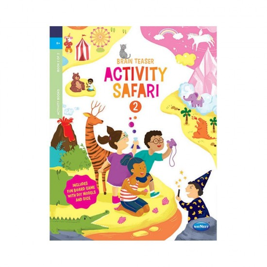 Brain Teaser Activity Safari   | Book 2 |F0669 |Pack of 30 | Navneet