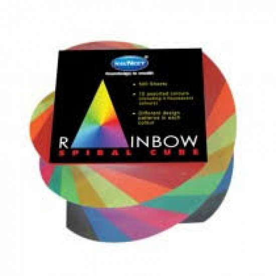 Rainbow Spiral Cube  Assorted Color   500 sheets  Pack of 1pieces   Navneet Youva  VT22857