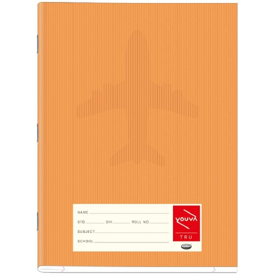 Brown Cover | Soft Bound Notebook | 18 cm X 24 cm | Single Line | 172 Pages | Pack/Quantity of 12 | VT23164  | Navneet Youva