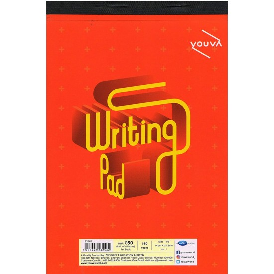 Writing Pad |single line |Size 14 cm X 21.5cm | 160 Pages | Navneet Youva | VT23761